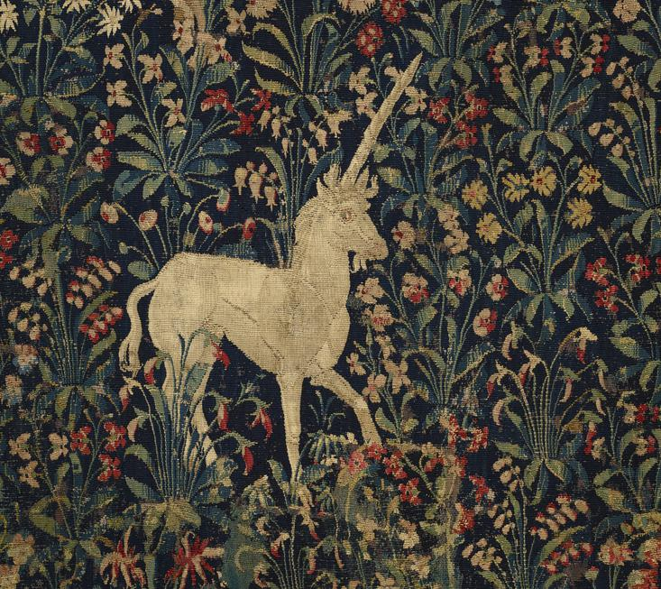 Tapestry with Flowers and Animals (detail)