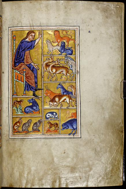 Christ in Majesty; Adam Naming the Animals