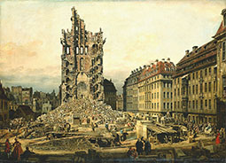 The Demolition of the Ruins of the Kreuzkirche