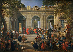 King Charles III Visiting Pope Benedict XIV at the Coffee House of the Palazzo del Quirina