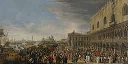 The Reception of the French Ambassador, Henri-Charles Arnauld, Abb&eacute de Pomponne, at the Doge's Palace