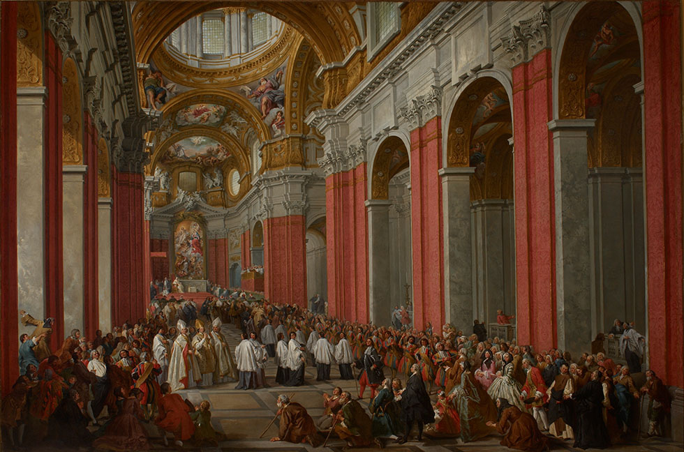 The Consecration of Giuseppe Pozzobonelli as Archbishop in San Carlo al Corso